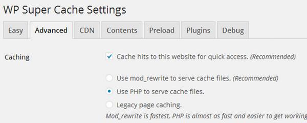 WP Super Cache - افزایش سرعت بارگذاری - بهترین افزونه های کش وردپرس