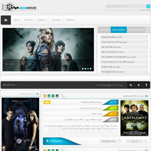 ariafilme - دانلود قالب سایت فیلم و سریال آریا فیلم برای وردپرس