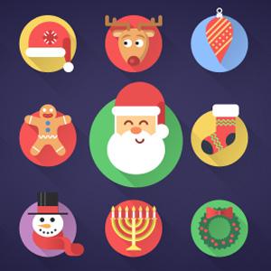 cristmas - دانلود مجموعه آیکون های کریسمس با فرمت PSD