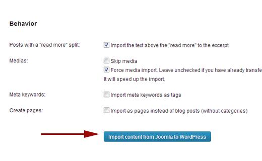 import joomla wordpress 5 - انتقال سایت از جوملا به وردپرس + انتقال محتویات و مطالب