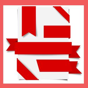 ribbon red - دانلود مجموعه روبان های قرمز رنگ با فرمت PSD