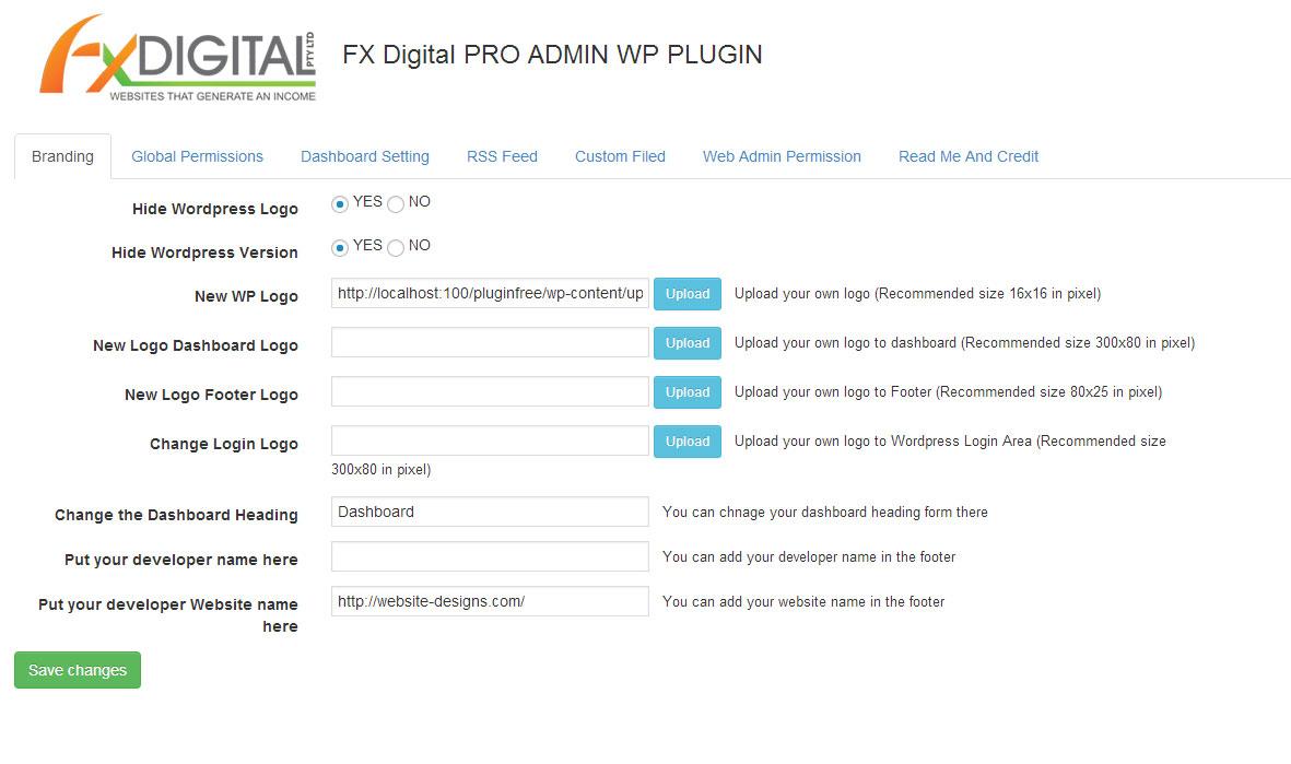 screenshot 1 - افزونه تغییر محیط مدیریت وردپرس با PRO WP ADMIN