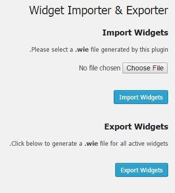 wiget2 - افزونه انتقال ابزارک بین دو سایت وردپرس