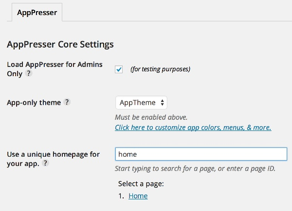 ax 3 - افزونه AppPresser ساخت اپلیکیشن برای وردپرس