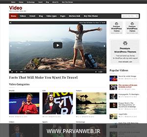 Video wordpress theme - قالب فارسی ویدئو برای وردپرس