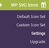 wp svg icons menu - افزونه ساخت آیکون های SVG با WP SVG icons برای وردپرس
