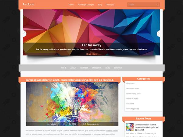 colorist lrg - دانلود قالب Colorist برای وردپرس