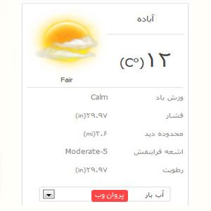 fdfdf - دانلود افزونه آب و هوا فارسی برای وردپرس
