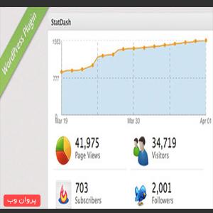 dsif - دانلود نمایش آمار بازدید وب سایت با افزونه StatDash وردپرس