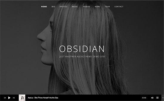 obsidian - معرفی 5 تا از بهترین قالب های موزیک 2017 وردپرس