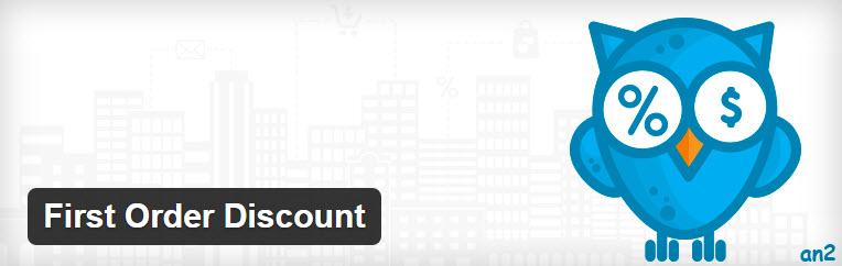 First Order Discount - تخفیف در اولین سفارش با استفاده از افزونه First Order Discount در ووکامرس