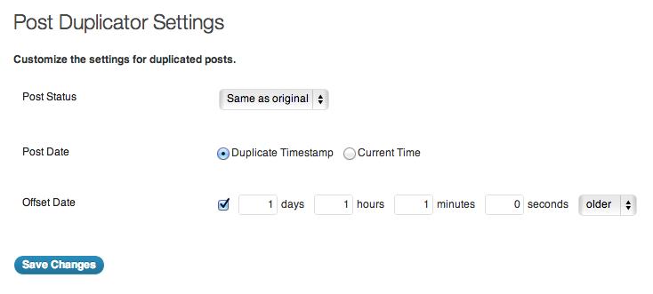 Post Duplicator setting - کپی راحت مطالب در وردپرس با افزونه Post Duplicator