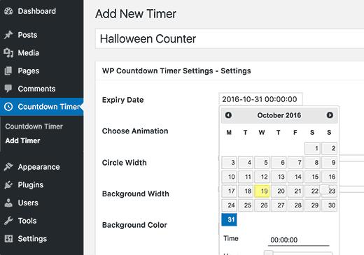 addcounter - افزونه شمارش معکوس انیمیشنی در وردپرس