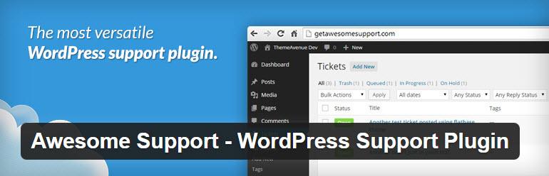 awesome support - افزونه پشتیبانی و تیکت وردپرس با Awesome Support