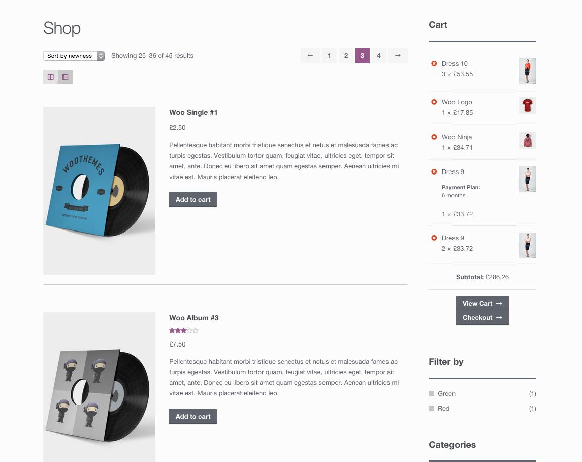 ax1 - افزونه نمایش محصولات در حالت های لیستی و پازلی در ووکامرس با WooCommerce Grid / List toggle