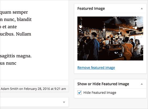 hidefeaturedimage - مخفی کردن تصاویر شاخص در ادامه مطلب وردپرس با افزونه Hide Featured Image