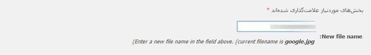 rename media files plugin 2 - تغییر اطلاعات عکس آپلود شده در وردپرس با افزونه Rename Media Files