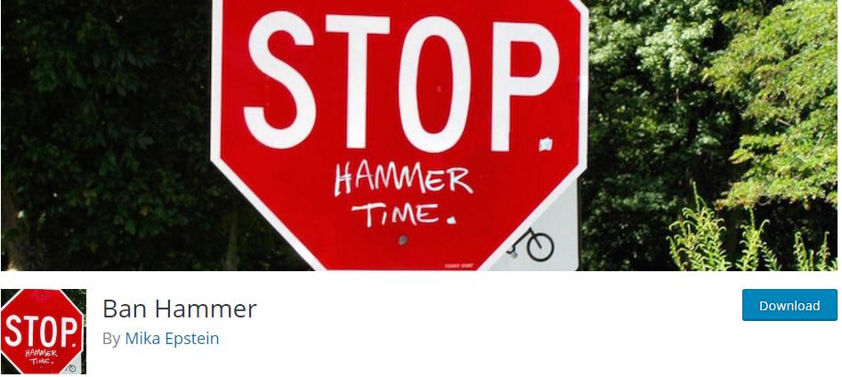 a 1 - جلوگیری از ثبت نام با ایمیل های موقت در وردپرس با افزونه Ban Hammer