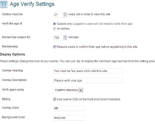 age verify wordpress - افزونه تعیین سن برای نمایش محتوا در وردپرس با Age Verify