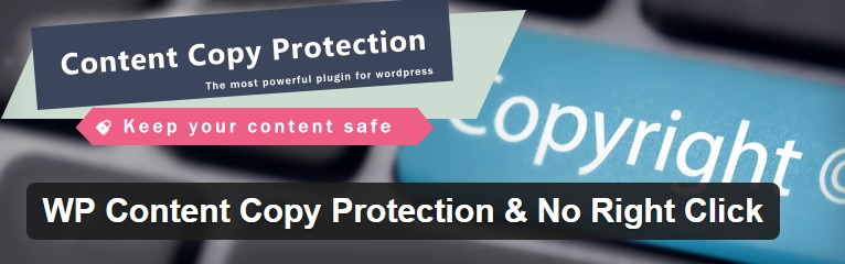 click right plugin  - افزونه جلوگیری از راست کلیک در وب سایت وردپرسی با wp content copy protector