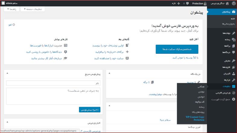 wp content copy - افزونه جلوگیری از راست کلیک در وب سایت وردپرسی با wp content copy protector