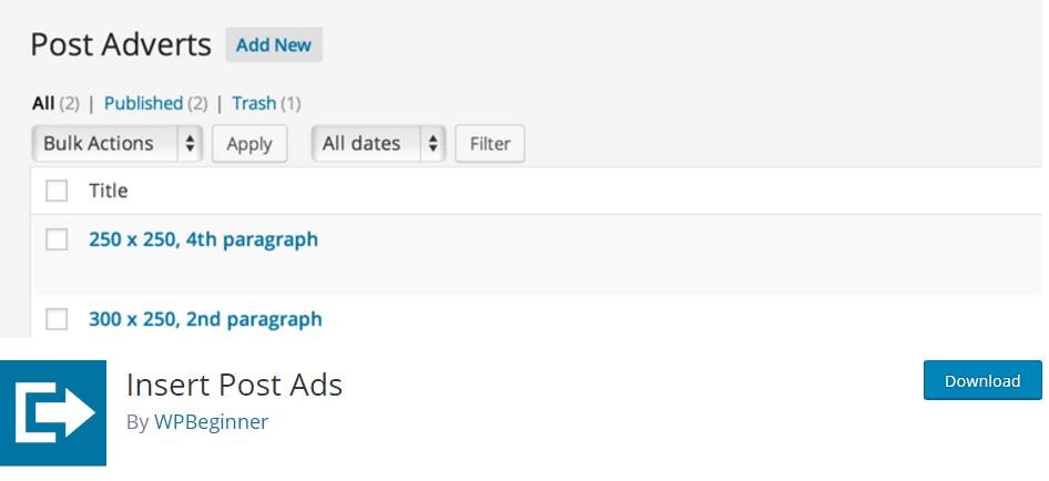 Insert Post Ads - آموزش اضافه کردن تبلیغات در بین پست ها در وردپرس