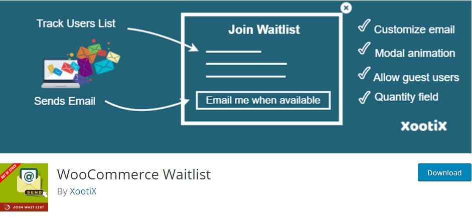 WooCommerce Waitlist - آنالیز از موجودی محصولات ووکامرس با WooCommerce Waitlist