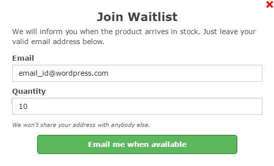 WooCommerce Waitlist1 - آنالیز از موجودی محصولات ووکامرس با WooCommerce Waitlist
