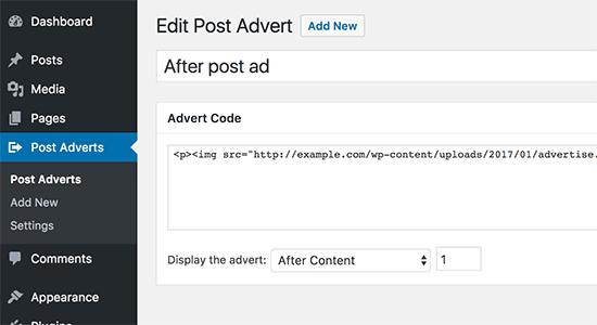 afterpostad - آموزش اضافه کردن تبلیغات در بین پست ها در وردپرس