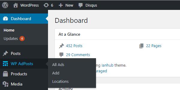 screenshot 1 - افزونه مدیریت تبلیغات در وردپرس با WP AdPosts