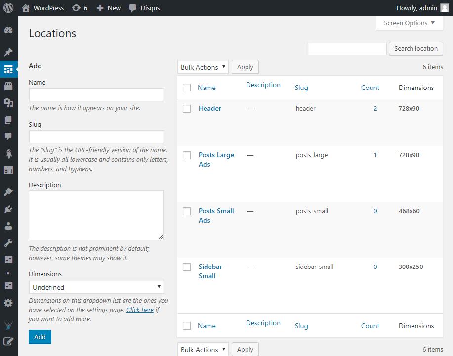 screenshot 3 - افزونه مدیریت تبلیغات در وردپرس با WP AdPosts