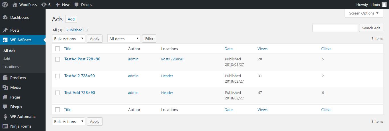 screenshot 5 - افزونه مدیریت تبلیغات در وردپرس با WP AdPosts