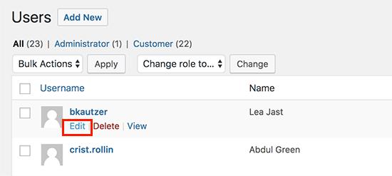edituser21 - آموزش نحوه فعال کردن ردیابی مشتری در ووکامرس با گوگل آنالیتیکس