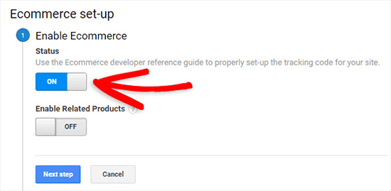 enable ecommerce7 - آموزش نحوه فعال کردن ردیابی مشتری در ووکامرس با گوگل آنالیتیکس