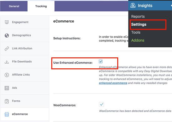 mi ecommerce3 - آموزش نحوه فعال کردن ردیابی مشتری در ووکامرس با گوگل آنالیتیکس