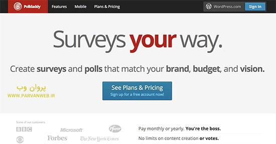 polldaddy - 5 افزونه نظرسنجی وردپرس ؛ مقایسه بهترین افزونه های نظرسنجی