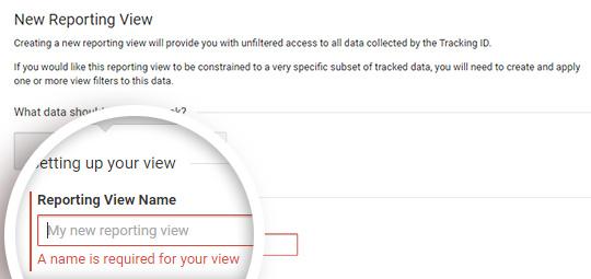 reporting view name14 - آموزش نحوه فعال کردن ردیابی مشتری در ووکامرس با گوگل آنالیتیکس