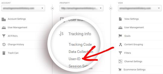 tracking user id10 - آموزش نحوه فعال کردن ردیابی مشتری در ووکامرس با گوگل آنالیتیکس
