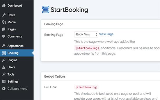 addbookingshortcodes7 - چگونه رزرو آنلاین در وردپرس را با StartBooking بهتر مدیریت کنیم؟