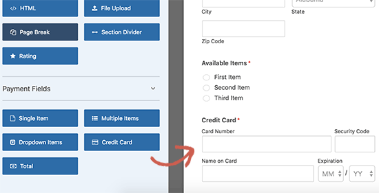 addcreditcardfield6 - نحوه راه اندازی پرداخت کارت اعتباری در سایت وردپرس - فعال کردن فرم پرداخت در وردپرس