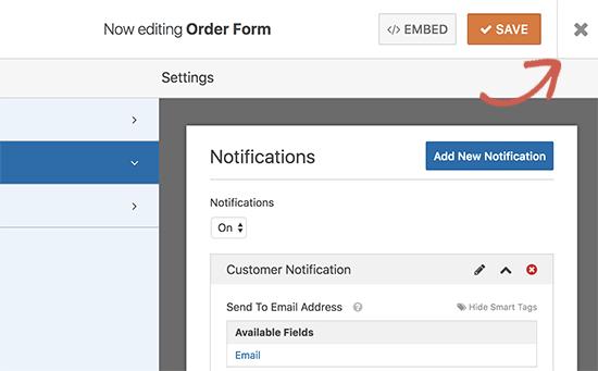 exitformbuilder11 - نحوه راه اندازی پرداخت کارت اعتباری در سایت وردپرس - فعال کردن فرم پرداخت در وردپرس