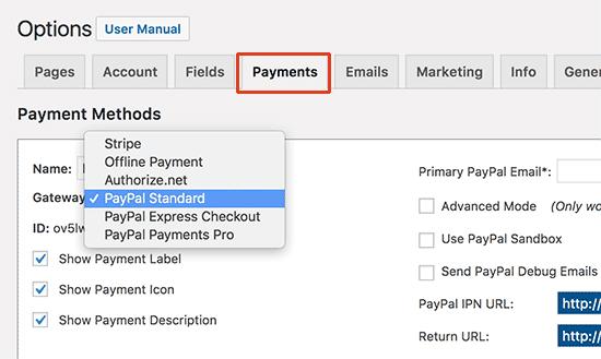 mp payments15 - نحوه راه اندازی پرداخت کارت اعتباری در سایت وردپرس - فعال کردن فرم پرداخت در وردپرس