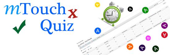 mtouchquiz - معرفی و مقایسه 9 افزونه آزمون برای وردپرس – بهترین افزونه آزمون وردپرس