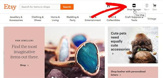 open shop manager - اضافه کردن فروشگاه Etsy در وردپرس