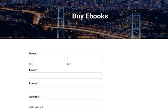 orderpage13 - نحوه راه اندازی پرداخت کارت اعتباری در سایت وردپرس - فعال کردن فرم پرداخت در وردپرس
