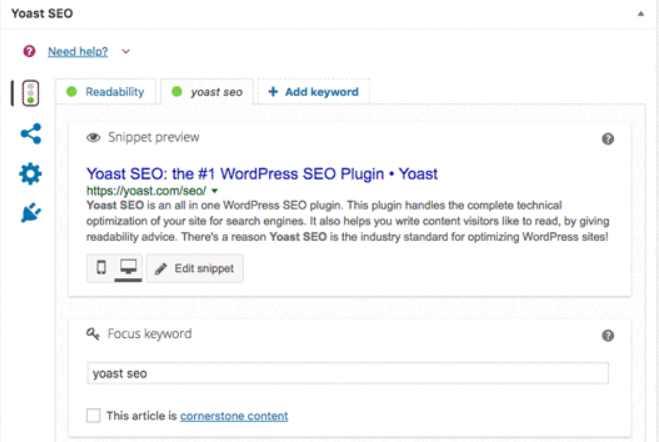 Yoast SEO - بهترین ابزارهای پشتیبانی سئوی سایت وردپرس - بهترین ابزار حمایت از سئو