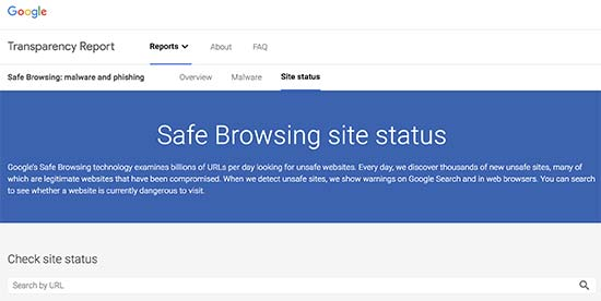 googlesafebrowsing - معرفی 14 اسکنر امنیتی وردپرس برای شناسایی بدافزار و هکرها - بررسی آنلاین امنیت سایت