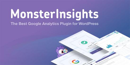 monsterinsights - افزونه و ابزار های بررسی کاربران و همچنین گوگل آنالیز در وردپرس