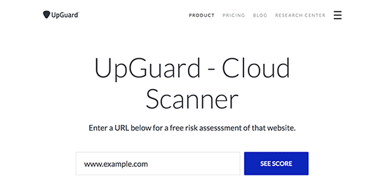 upguardscanner - معرفی 14 اسکنر امنیتی وردپرس برای شناسایی بدافزار و هکرها - بررسی آنلاین امنیت سایت