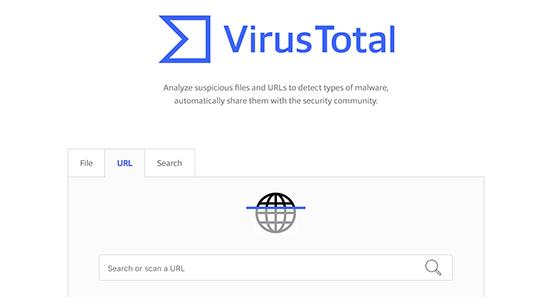 virustotal - معرفی 14 اسکنر امنیتی وردپرس برای شناسایی بدافزار و هکرها - بررسی آنلاین امنیت سایت